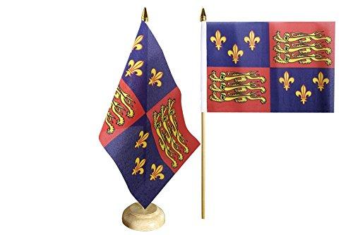 Tischflagge / Tischfahne Großbritannien Royal Banner 1485-1547 Heinrich VII. und Heinrich VIII. + gratis Aufkleber, Flaggenfritze®