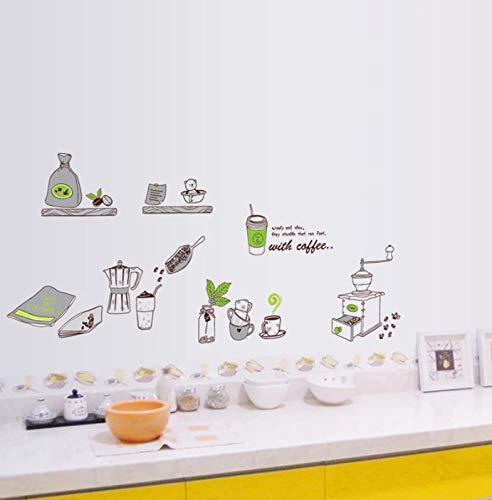 Herramientas de cocina de dibujos animados Azulejos de restaurante Gabinete de cocina Pegatinas de cerámica Decoración del hogar Etiqueta de la pared