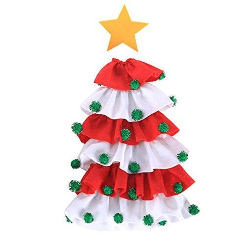 Presentimer - Bolsa para botella de vino, tela cepillada, diseño de árbol de Navidad, decoración para botella de vino, funda protectora para el hogar, vacaciones, accesorios para vino, juego de vino