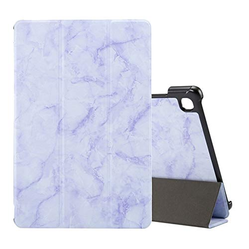 WEI RONGHUA Tablet Cases For Samsung Galaxy Tab A7 T505 Marble Texture Pattern Horizontal Flip Leather Case, with Three-folding Holder & Sleep/Wake-up accessories (Color : Purple)