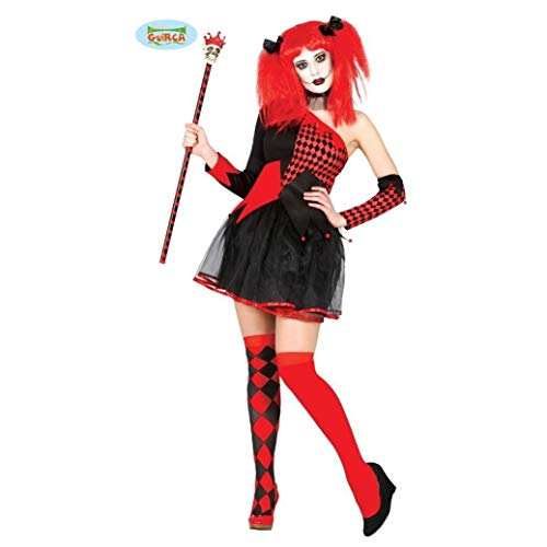 Teuflischer Clown Kostüm für Damen Gr. XS-M, Größe:XS/S