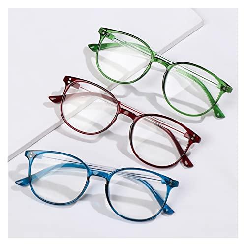 Gafas de Lectura, Gafas de Lectura Unisex 3pcs, Cuidado de la visión de Alta definición, Gafas presbiopíneas portátiles, Marcos ultraligeros anteojos clásicos (Color : +200, Size : 3pcs)