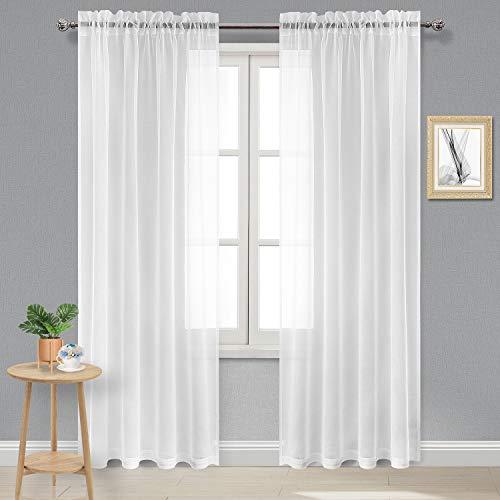 cortinas blancas miulee