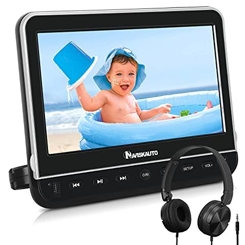 NAVISKAUTO 10,5''Lecteur DVD Voiture pour Enfant Ecran d'appui tête Supporte HDMI Input Région Libre USB SD Compatible avec MKV/MP4,Equipé Chargeur Mural