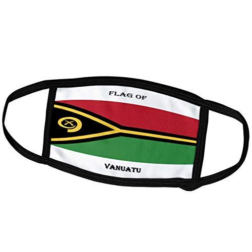 3dRose Gesichtsbedeckung groß, Flagge von Vanuatu