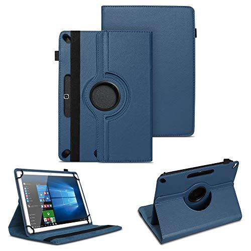 NAUC Tablet Tasche kompatibel für Archos Copper 101C Hülle Schutzhülle aus hochwertigem Kunstleder Standfunktion 360° Drehbar Universal Hülle, Farben:Blau