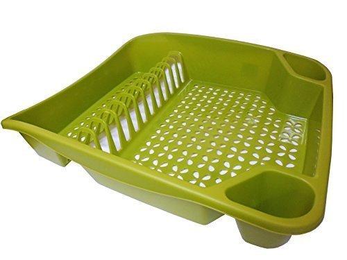 Whitefurze Grand égouttoir à Vaisselle, en Plastique, Vert Feuille