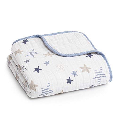 aden + anais Dream Blanket   Boutique Muslin Baby Blankets for Girls & Boys   Ideal Lightweight Newborn Nursery & Crib Blanket   Unisex Toddler & Infant Bedding, Shower & Registry Gifts, Rock Star