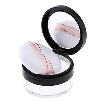 Parfait pour la maison et usage professionnel Boîte à poudre portable avec miroir, idéale pour les voyages Idéal pour la poudre libre, la poudre de finition, les paillettes, le maquillage, les cosmétiques, les voyages, le fard à joues et le fond de t...