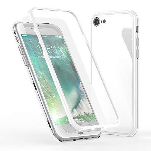 NALIA 360° Funda de Vidrio Compatible con iPhone SE 2020/8 / 7,...