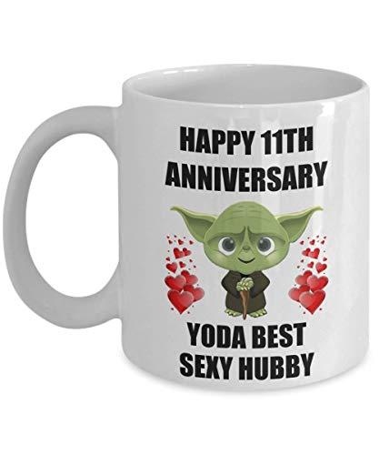 N\A Boda de 11 años para Yoda, el Mejor Esposo Sexy de la Esposa, el día de San Valentín, Hombres Gay, Taza de café de Star Wars