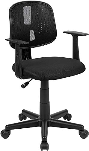 Shanghai Yuxi Business Consulting Co, Ltd. Mid-Back Black Mesh Swivel Task Office Chair with Pivot Back and Arms