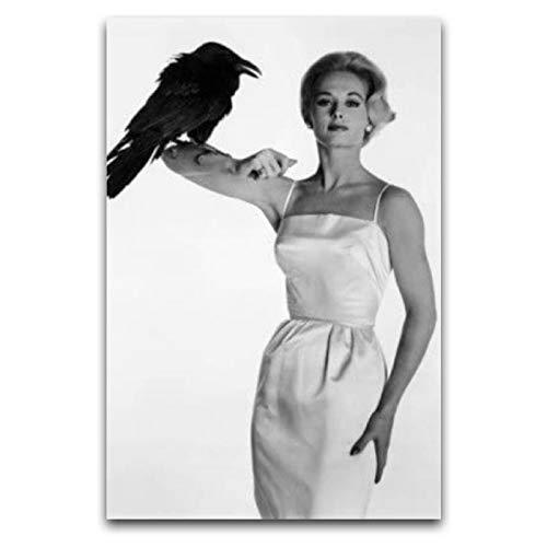 WPQL Tippi Hedren - Póster de arte moderno para el hogar, hotel, mural decorativo de impresión artística, póster clásico de 40 x 60 cm