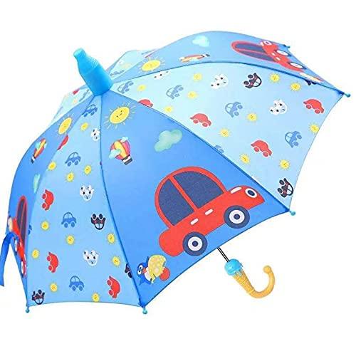 HOUSEHOLD Paraguas para Niños, Paraguas para Niños Pequeños a Prueba De Viento para Bebés, Paraguas Automático De Protección Solar de Dibujos Animados, Aplicable a La Lluvia o Al Brillo