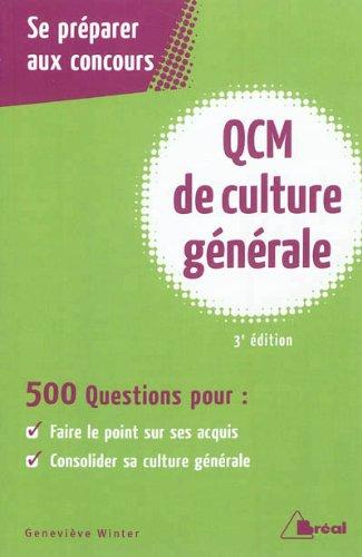 QCM de Culture Generale 3ème édition