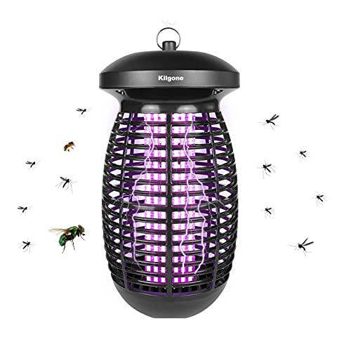 Bug Zapper for Outdoor and Indoor, Kilgone 5 Year Work Time Electronic Mosquito Zapper, Insect Fly Traps, Mosquito Trap for Home, Patio, Backyard