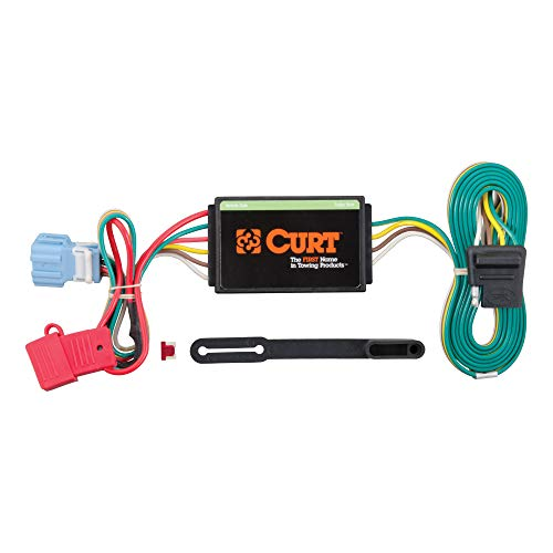 CURT 56008 Vehicle-Side Custom 4-Pin Trailer Wiring Harness for Select Honda Accord Crosstour, Acura RDX