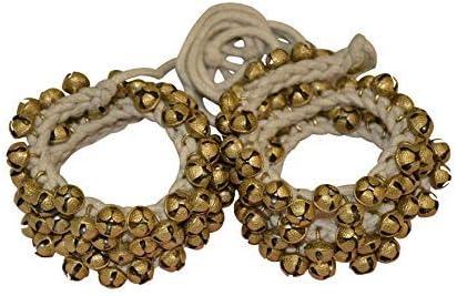 UAPAN Brass Ghungroo Ankle Bells (1.6 CM, 50+50)
