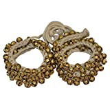 Vishal India Craft Ghungroo 50 - 50 Bells Pair, Ghungru 2 cm 50 Bells, 16 No. Ghungroo Big Bells (Total 100 Bells) Dancing Bells Anklets