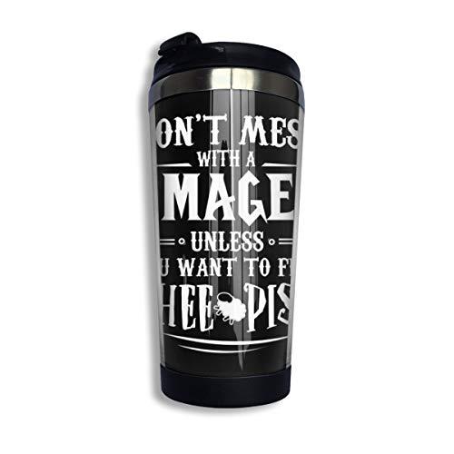 Warcraft - Taza de acero inoxidable con aislamiento de mago con vaso...