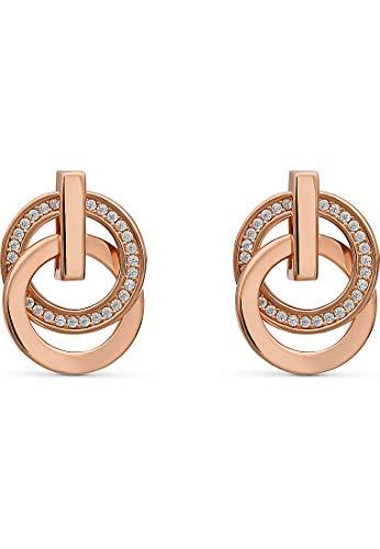 JETTE Silver Damen-Ohrstecker Swing 925er Silber 58 Zirkonia One Size Roségold 32010617