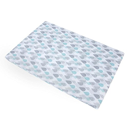 Best Bargain Baby Trend Aqua/Grey/White Drip Drop Play Yard Sheet