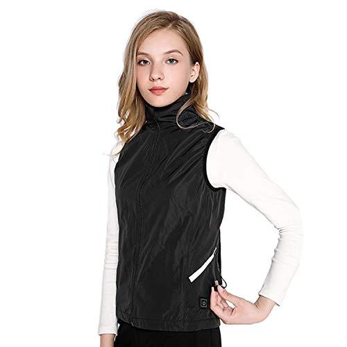 QGPWHLS outdoor winterwarme verwarming jassen vrouwen smart thermostaat rood zwart kleur kraag verwarmd vest skiën wandelen jassen kleding
