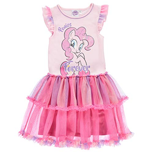 Character Mädchen Play Kleid Minikleid Tutu Flügelärmel My Little Pony 5-6 Jahre
