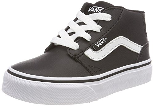 Vans Jungen Chapman MID Synthetic Leather Hohe Sneaker, Schwarz ((Classic Tumble) Black/White U0m), 31 EU