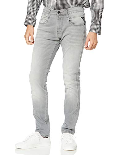 Replay Herren Anbass Jeans, Grau (Medium Grey 096), 32W / 32L