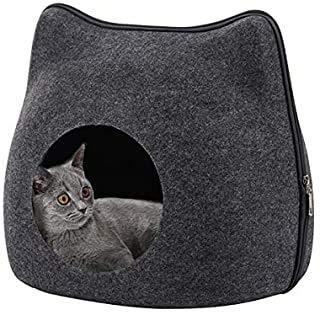 Cueva del Gato, Cama Gato Cueva Suave, Cat Bed para Gatos Gatitos Mascotas, con Cojín Desenfundable y Extraíble