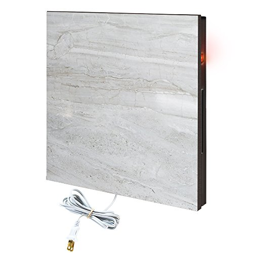 CalorSolar Cerati - Calefactor de Panel infrarrojo de pared en Porcelanato, Vegas Wave Marble de 380W, 60x60cm