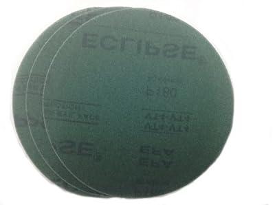 "Sungold Abrasives 04806 80 Grit Eclipse Film Aluminum Oxide Hook & Loop Discs (50 per Box), 3"""