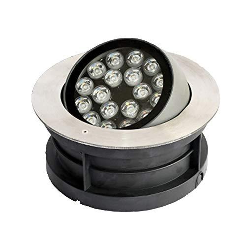 BDSHL Luz LED Enterrada Ángulo Ajustable 15°-60° IP67 Foco Empotrado al Aire Libre Impermeable para Iluminación de Decoración de Patio de Villa Arquitectónica, 5 Colores 3 Potencia