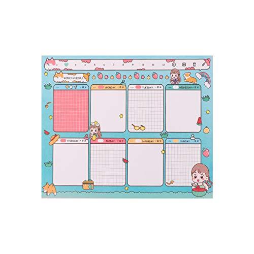 Bingxue Kawaii Cartoon Mensile Settimanale Daily Planner Notebook Agenda Blocco Note Cancelleria Materiale Scolastico per Ufficio