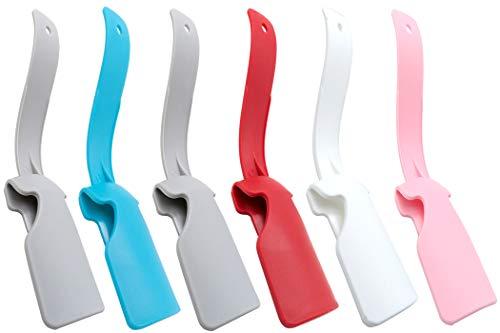 CKANDAY 6 piezas perezosas de zapatos de plástico, portátil, para levantar zapatos, fácil de poner y quitar,herramienta de uso para todas las edades,adultos,niños,hombres,mujeres,ancianos,personas