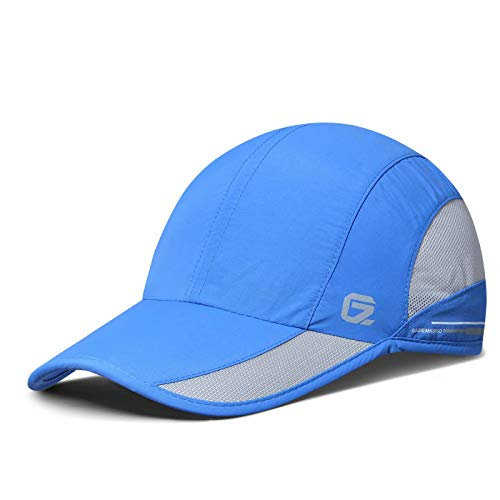 GADIEMKENSD Quick Dry Sports Hat Lightweight Breathable Soft Outdoor Running Cap Baseball Caps for Men (Blue)