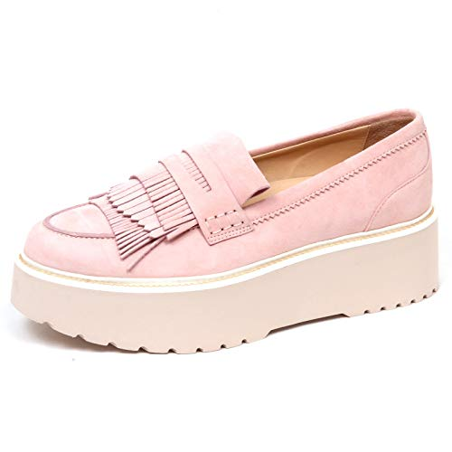 Hogan F2562 Mocassino Donna pink H355 Scarpe Loafer Suede Shoe Woman [36]