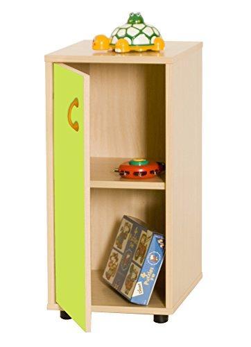Mobeduc 600216HPS13-Mobile per sotto/armadio a 2 ripiani, in legno, colore: verde mela/Naturale legno, 40 x 36 x 76,5 cm