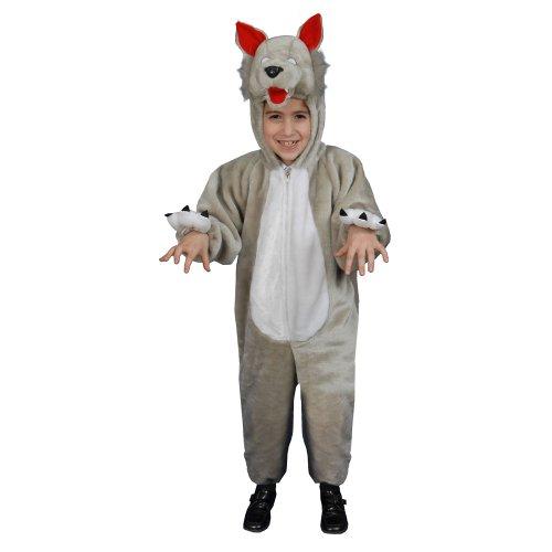 Dress Up America Costume de loup en peluche Little Des gamins