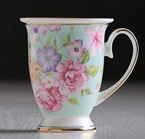 Copas De Champán, Tazas, Regalos Taza De Porcelana De Hueso De 300 Ml Taza De Té De Agua Taza De Cerámica Floral Taza De Leche La Taza De Café Real Regalo Exquisito