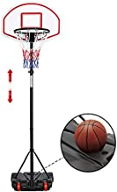 Yaheetech Portable Basketball Hoop Stand Backboard System Height Adjustable 5.2-7 ft Kids Basketball Goal Indoor Outdoor with Wheels