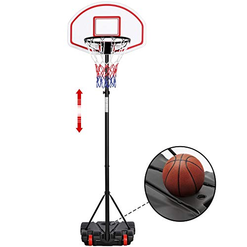 Yaheetech Portable Basketball Hoop Stand Backboard System Height...