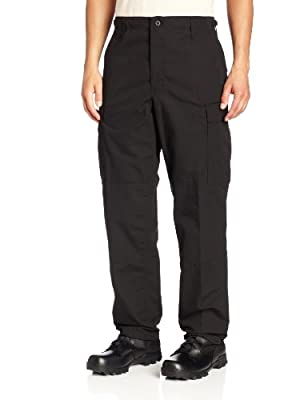 Propper Men's Zip Fly BDU Trouser, Black, 3X-Large Regular