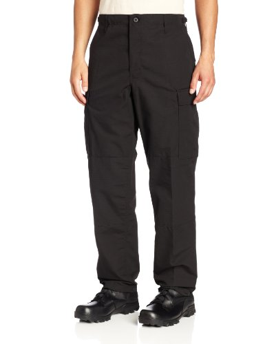 Propper Men's Zip Fly BDU Trouser, Black, X-Large Regular