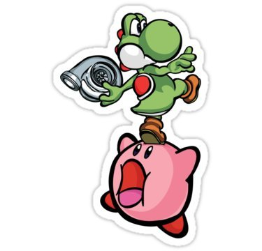 PVC Sticker 'Yoshi and Kirby (6.2x9.7CM) ' By Best Gift Shop