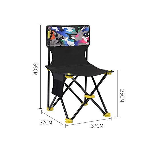 Kleiner Klappbarer Campingstuhl Leichter Sitz Tragbarer Hocker Für Erwachsene Bergsteigen Abenteuer Wandern Angeln Strand Picknick Party Gartenarbeit,37 * 37CM