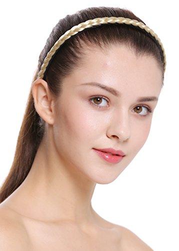 WIG ME UP - CXT-004-320 Haarband Haarreif geflochten Tracht traditionell 1 cm schmal hellblond braid