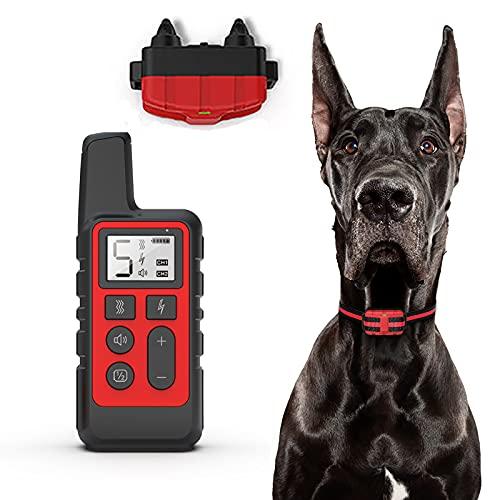 NXL Collar De Entrenamiento para Perros Collar Antiladridos Sin Descarga Eléctrica con Función De Vibración Y Sonido, IPX7 Impermeable Collar Y Recargable, Rango Remoto De 300 Metros