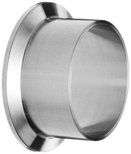 """Dixon Valve & Coupling L14AM7-G200 Stainless Steel 304 Sanitary Fitting, Long Weld Clamp Ferrule, 2"""" Tube Outer Diameter"""